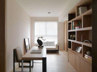 现代日式风书房装修效果图