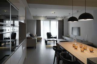 时尚深色系现代风两居室设计