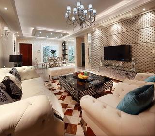 新古典风格 客厅电视背景墙欣赏