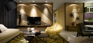 13萬打造120平米三室兩廳精致現代風格裝潢效果圖