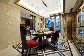 奢华简欧餐厅吊顶设计欣赏