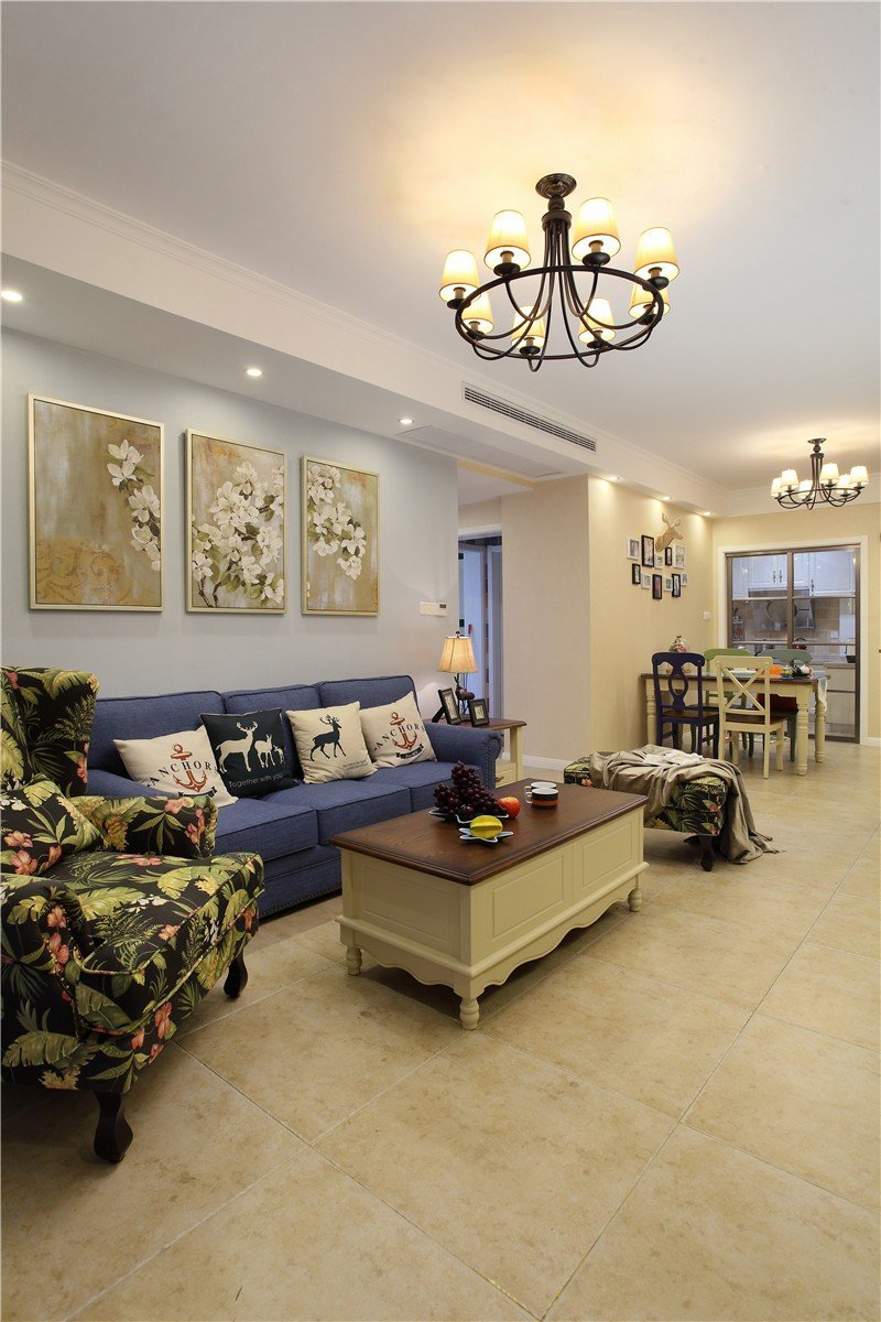 混搭田园风客厅沙发设计