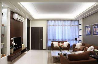 潮流现代客厅吊顶效果图