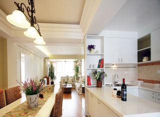 简约田园风厨房吧台设计