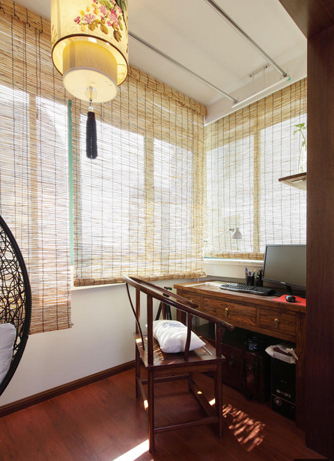 东南亚装饰风格书房窗帘装饰效果图