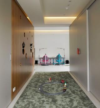 现代简约儿童房收纳柜设计