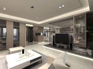 时尚现代都市风 客厅玻璃隔断设计