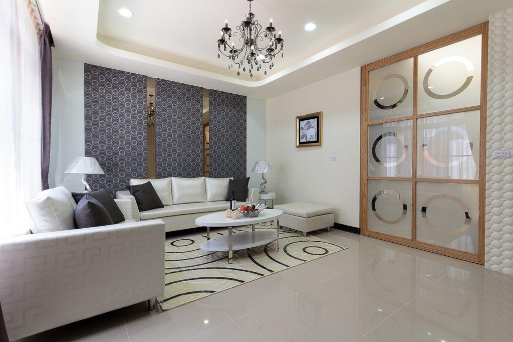 精美简洁现代客厅推拉门设计