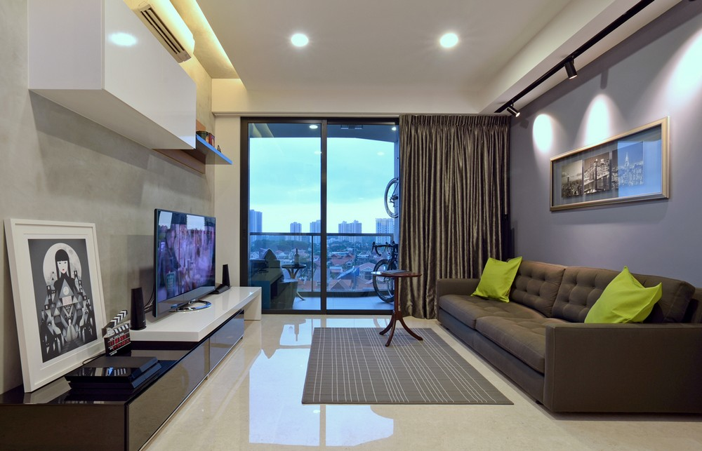 时尚现代风格 客厅装修整体效果图