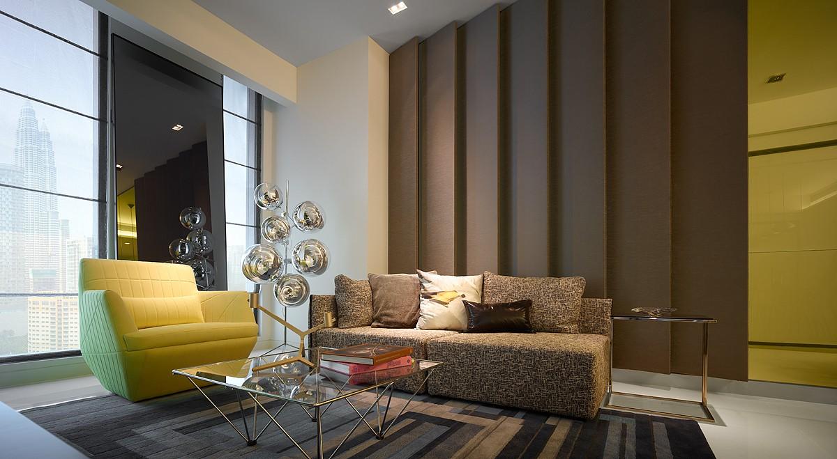 时尚精致现代设计风格客厅沙发装饰效果图