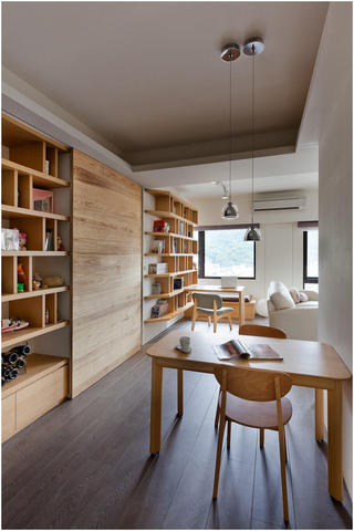 清新简约装饰风格家居开放式餐厅餐桌椅设计