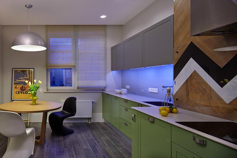 个性混搭厨房装潢效果图