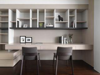 简约宜家书房 创意格子书柜设计