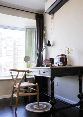 简中式书房实木书柜设计