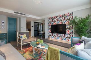 清新美式新古典三室两厅效果图