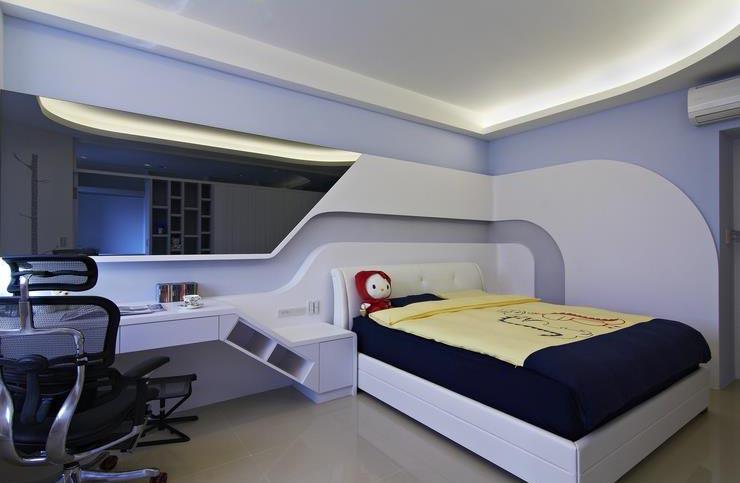 清新蓝色现代创意儿童房设计装修效果图