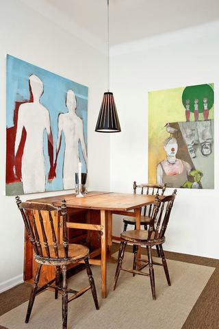 艺术复古北欧风情 餐厅照片墙设计