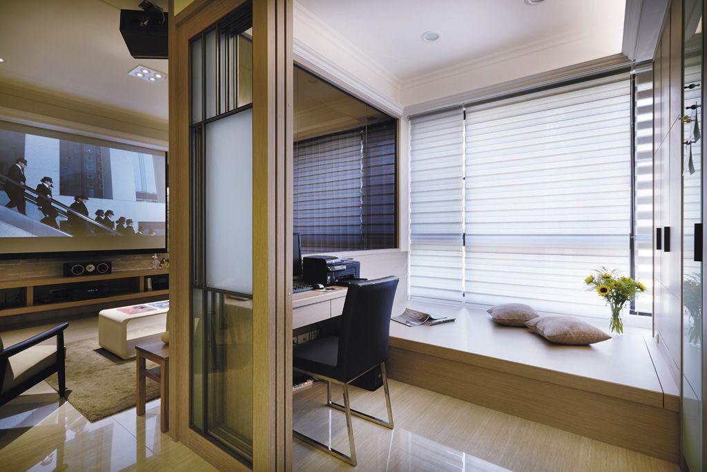 时尚现代家居室内折叠门隔断设计图