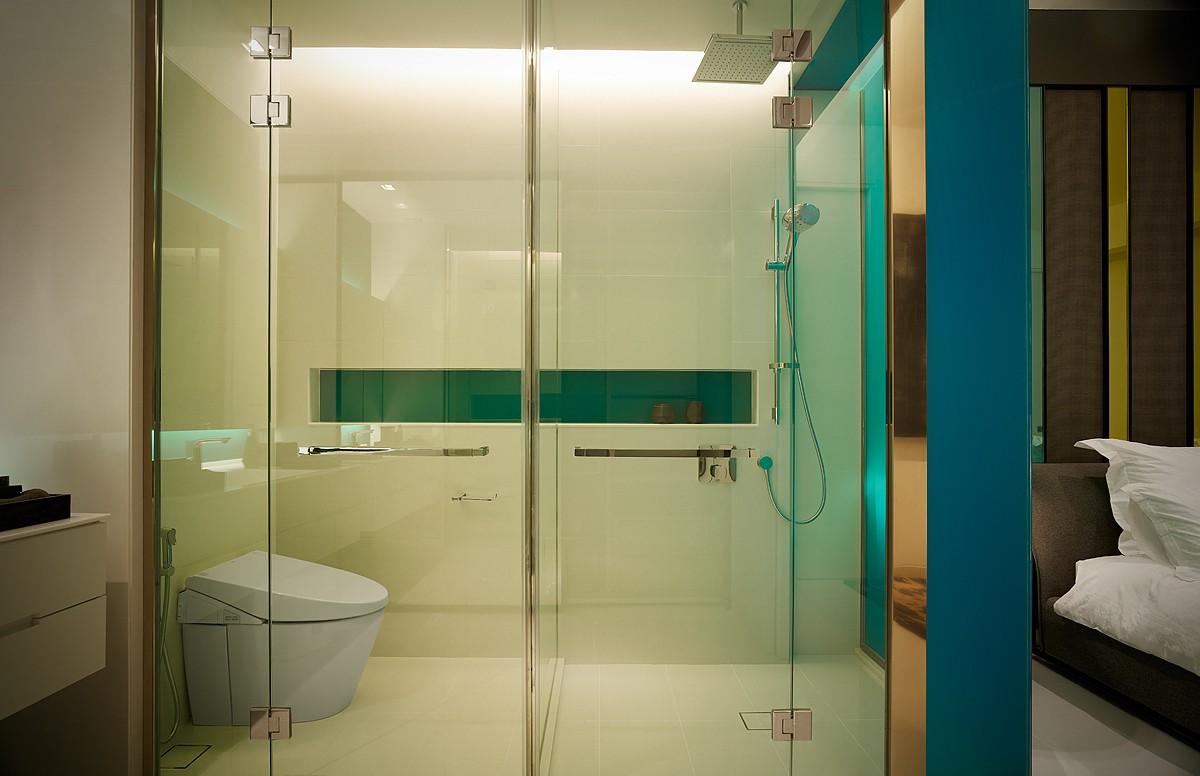 时尚现代主卧卫生间设计装修图