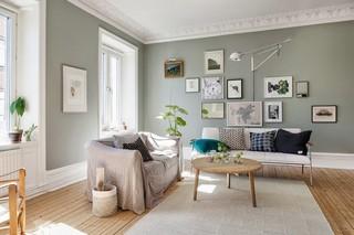 复古北欧风情 客厅照片墙设计