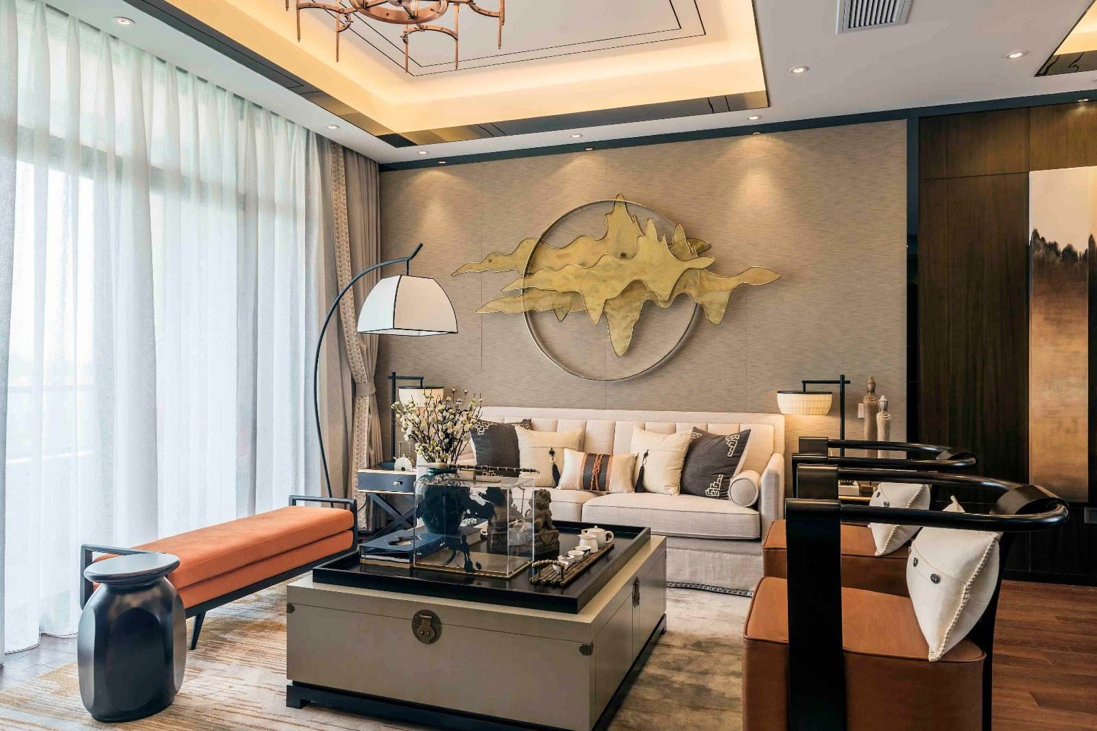 新中式风格客厅家具设计
