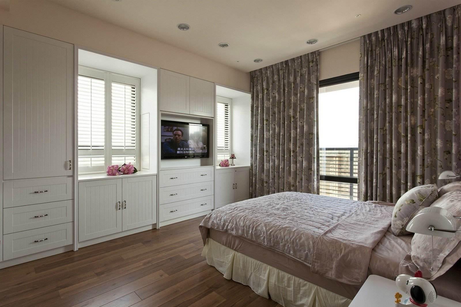 优雅简约美式卧室整体柜设计