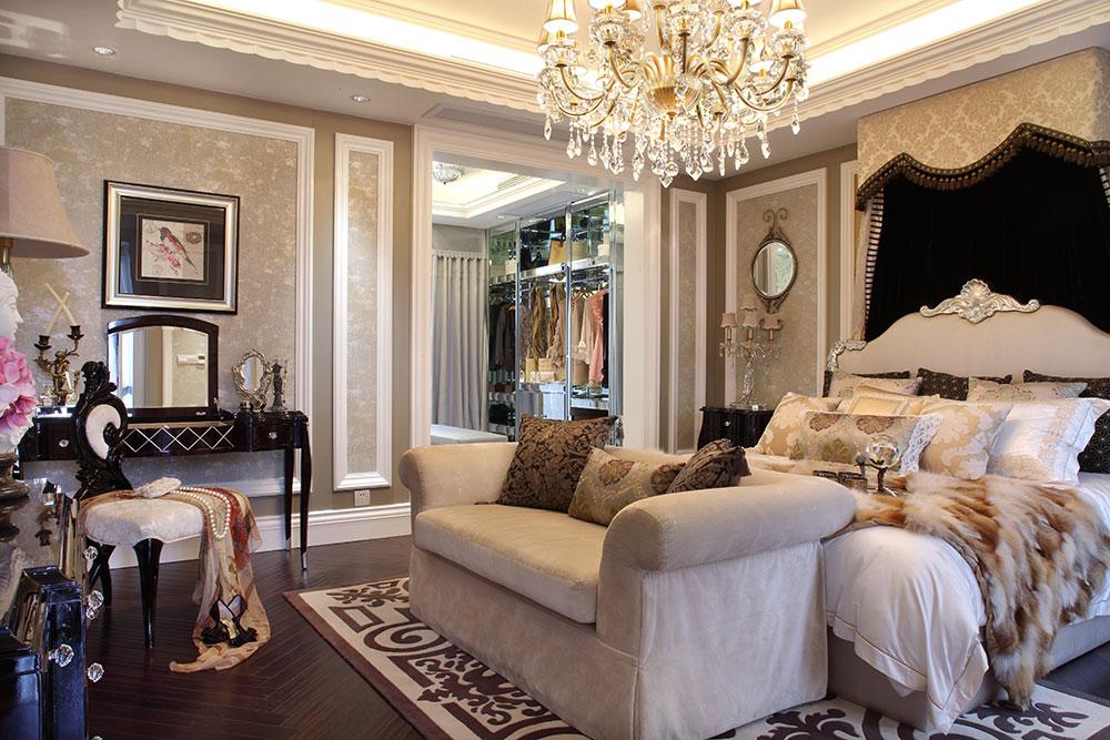 奢华欧式新古典卧室效果图