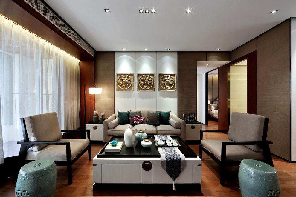 新中式风格客厅装潢效果图