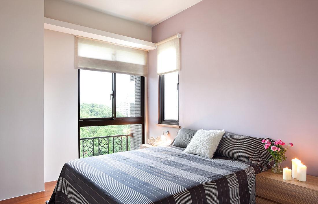 简约自然风卧室窗户效果图