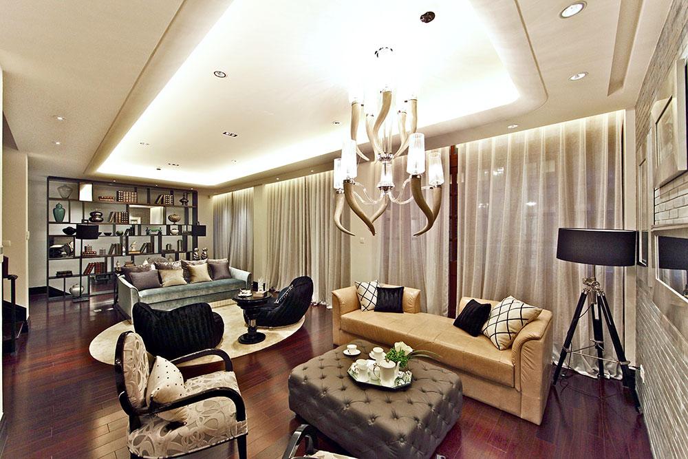 古典美式风格复式室内装修欣赏图