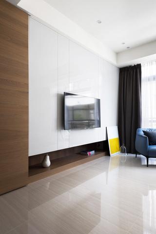 时尚现代电视背景墙模型