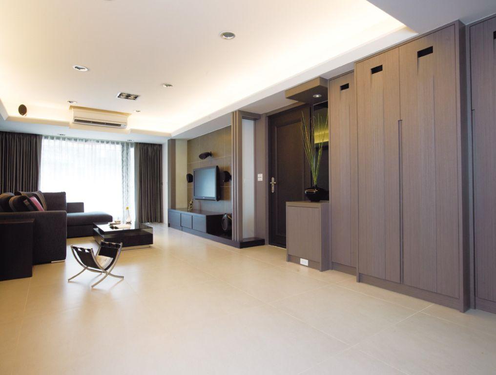 简约素雅装修风格两居室内装潢图片