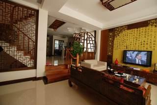 奢华古典中式 复式客厅效果图