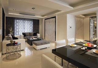 素色简约现代三居室装修