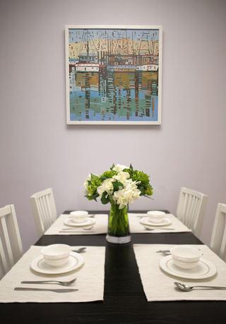 现代简约设计餐厅挂画欣赏