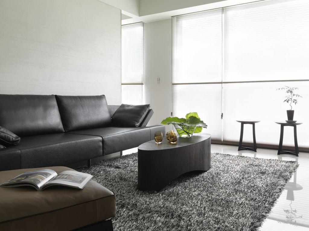 简约时尚现代室内客厅地毯装饰效果图
