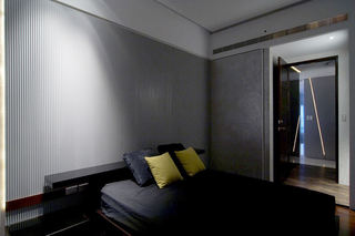 简约现代风 卧室竖条纹背景墙设计