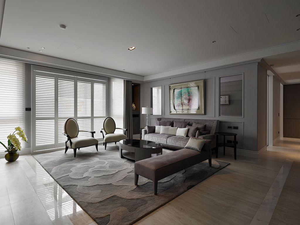 现代风格客厅家具摆放效果图