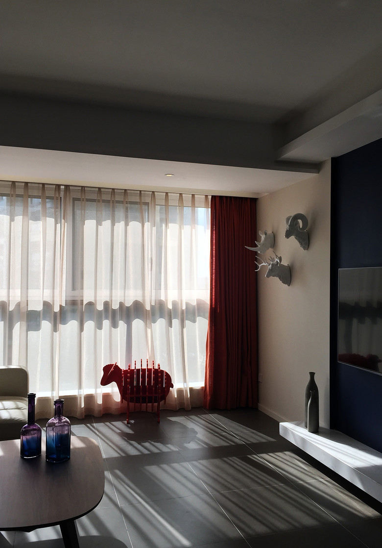 宜家风格客厅窗帘装饰欣赏图