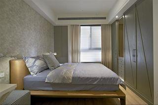 洁净简约现代卧室窗帘搭配