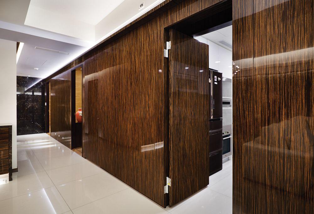 现代中式风隐形门设计