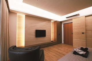 时尚后现代风卧室电视背景墙设计