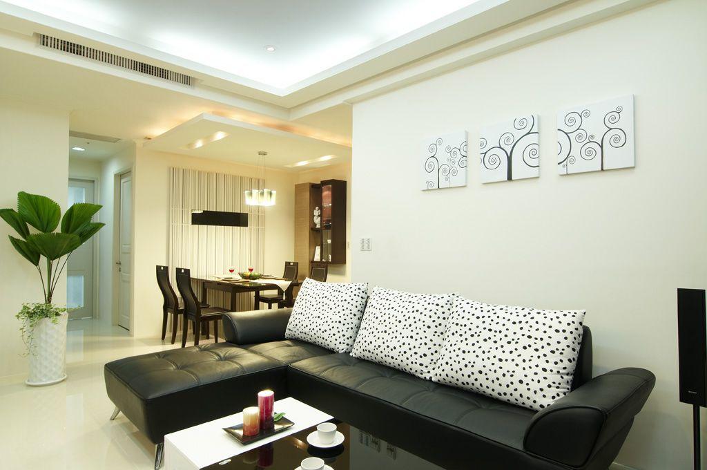 现代家装室内真皮沙发图