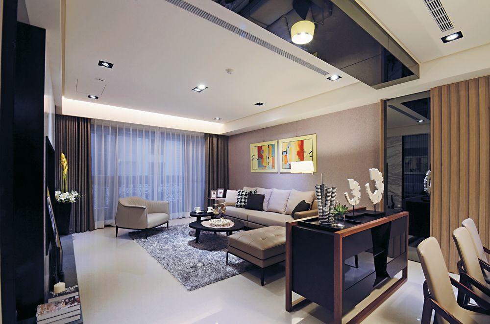 时尚精致现代风 客厅黑色隔断设计