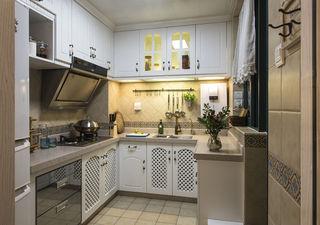 清新地中海风格厨房整体橱柜装饰效果图