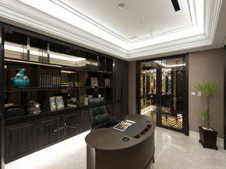 中式现代书房装修效果图