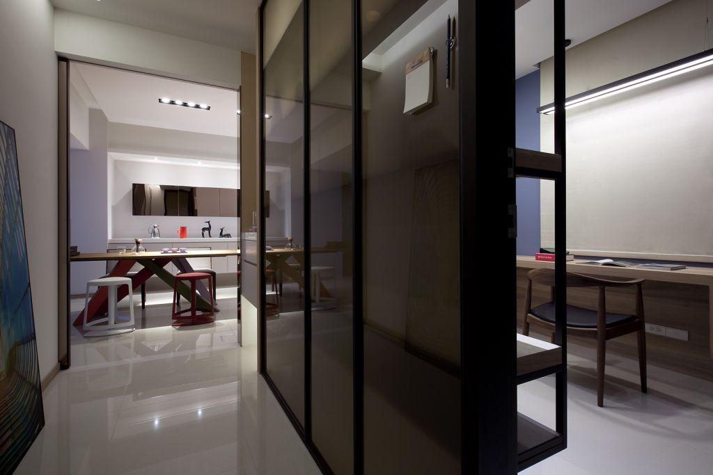 时尚现代设计家居室内隔断墙装饰效果图