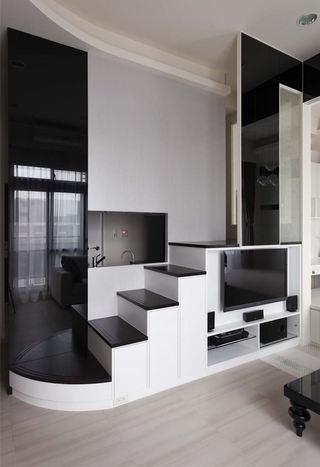 黑白简约家居电视墙设计