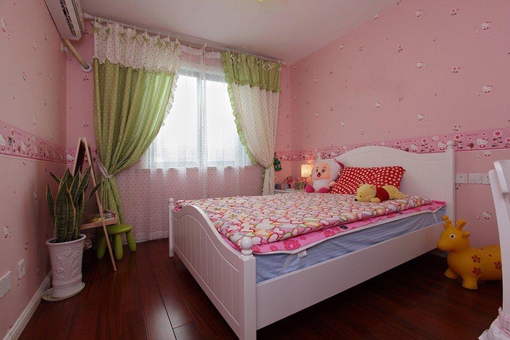 甜美粉色田园风儿童房装修大全