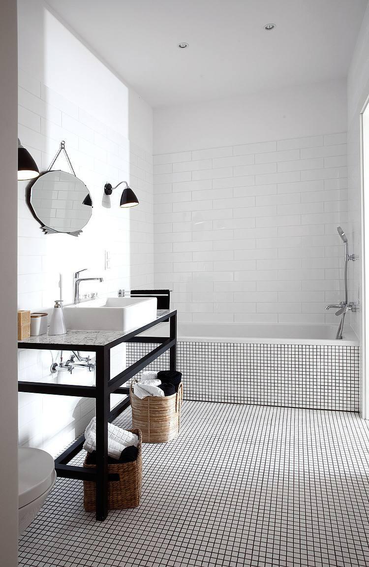 黑白现代风卫生间效果图